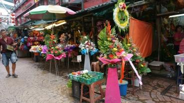 Flower stalls - Petaling Street