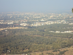 View from Chamudi hill (Mysore)